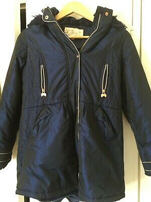 Ted Baker Girls Navy/Petrol Coat Age 12 Years