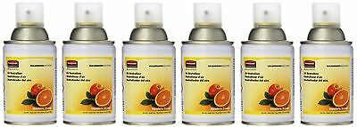 Rubbermaid Commercial Microburst Standard Aerosol Refill, Mandarin Orange, (6...