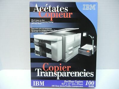 New 1000 Sheets Ibm Clear Transparency Transparencies Film Copier/Stencil In Box