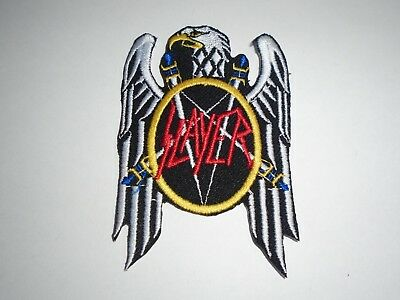 Slayer Thrash Metal Iron On Embroidered Patch