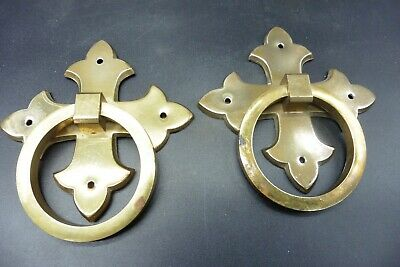 A pair of vintage brass  coffin handles