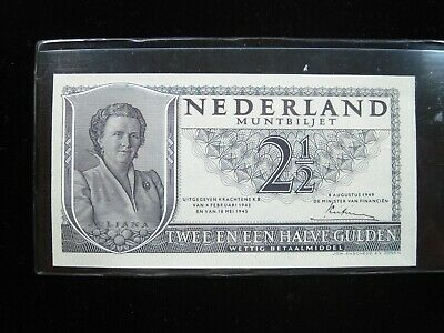 NETHERLANDS 2 1/2 GULDEN 1949 DUTCH SHARP 484# Currency Bank Money Banknote