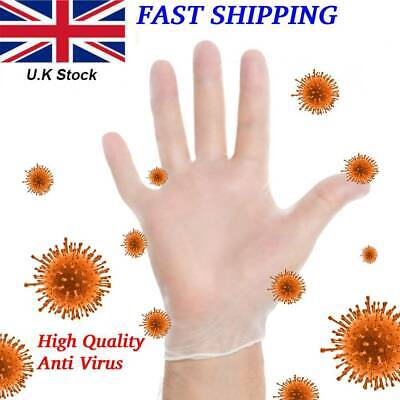 Disposable Gloves Clear Vinyl Powder Free Gloves Latex Free Non Sterile Medical