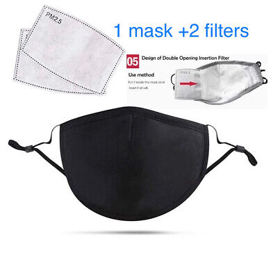 4 layers 100% cotton masks Reusable face Mask with Filter pocket and nose wire