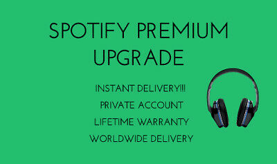 Spotify Premium Upgrade | LIFETIME WARRANTY| PRIVATE ACCOUNT| INSTANT DELIVERY