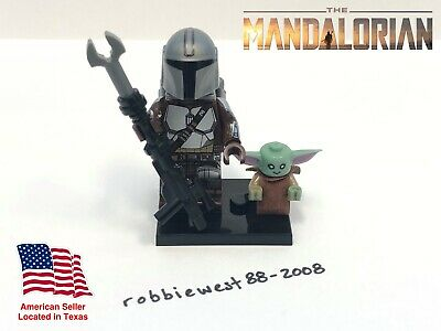 Disney+ The Mandalorian with Baby Yoda minifigure compatible w/ LEGO USA Seller!