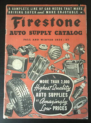 1936 Firestone Fall and Winter Catalog Auto Supplies Bicycles Tires, Ford Chevy