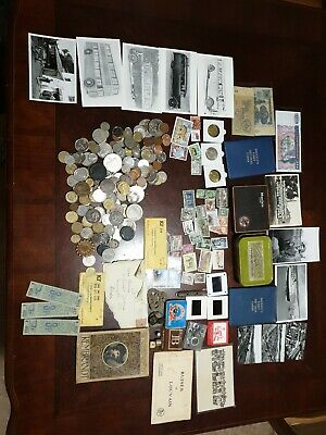 Old Coins And Tokens mix, british, world coins notes stamps curios, joblot