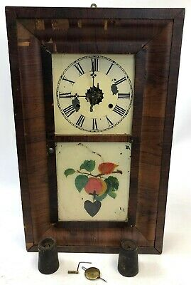 Antique FOR PARTS Repair Seth Thomas Ogee Connecticut Wood Mechanical Wall Clock