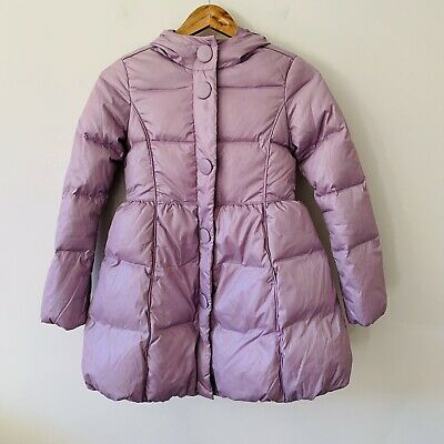 Girls United Colors Of Benetton Coat Down Jacket Lilac Puffer 8-9 Years 140cm