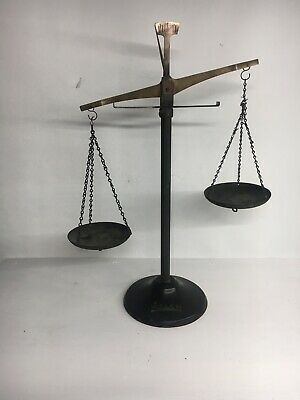 Vintage Welch Mfg Company Chicago Precision Balance Arm Scale , Brass