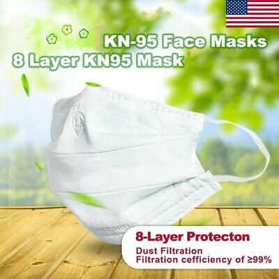 [8 LAYERS] KN95 Disposable Mask(1 pcs)KN95 Face Mask Protective Mask