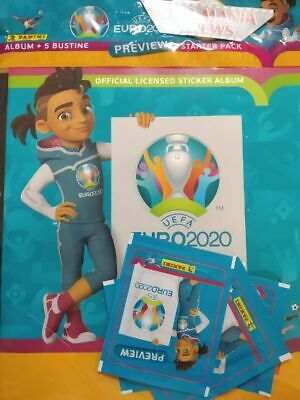 Album Uefa Euro 2020 Preview+ 5 Bustine/Packets  Figurine/Stickers.panini