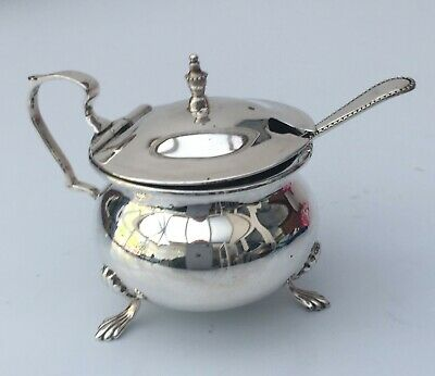 Old Small Silver Plated Condiment Pot
