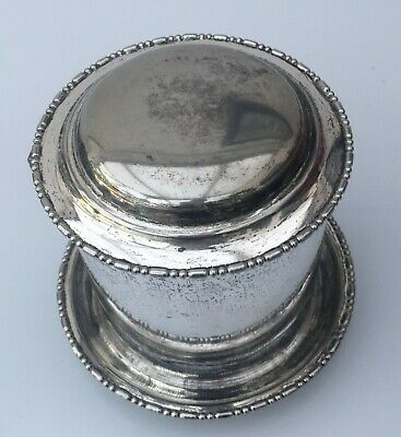 Vintage Silver Container POT with Lid