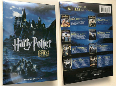 Harry Potter The Complete 8-Film Collection (DVD, 2011, 8-Disc Set) Brand New