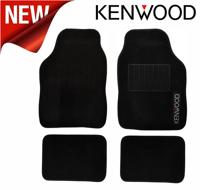Kenwood Universal Fit Non-Slip Heavy Duty High Quality Black Car Mats - 4pc Set