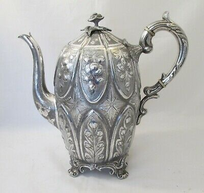 A 19th Century Silver Plated Coffee Pot by Sturges, Bladon & Middleton