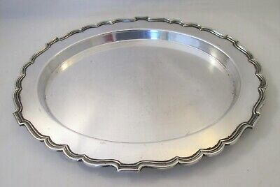 A Vintage Silver Plated Tray / Plate / Platter by WW Harrison