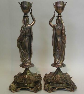 Antique Victorian Candlesticks. E G Zimmermann. No. 11850. (838)