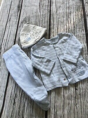 Baby Boys 0-3 Months Disney Dumbo Blue 3 Piece Outfit Hardly Worn
