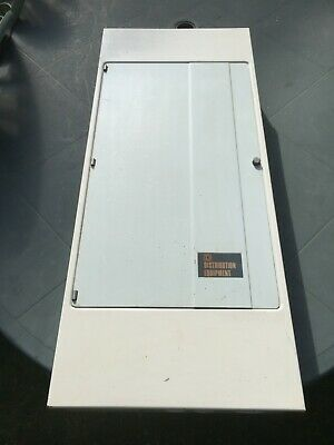 Square D 3 phase distribution board, 36 way, complete with mcb's, QOX, QOE