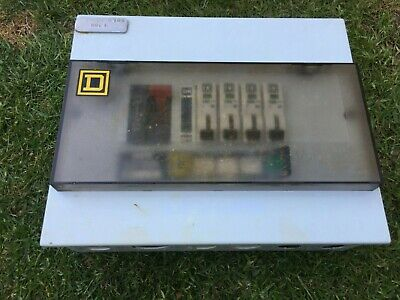 Square D Consumer Unit, D.B, 4 way complete with mcb's