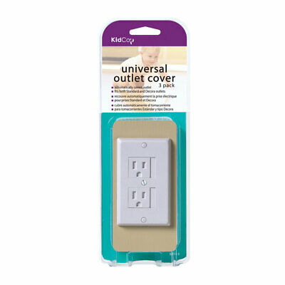 KIDCO S205-3-WHITE White UNIVERSAL OUTLET COVER 3 PACK WHITE
