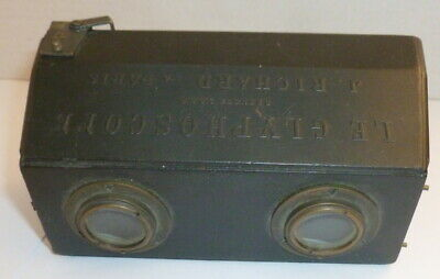 Le Glyphoscope Stereo Camera Antique antiquec1905 Jules Richard of Paris No 4588