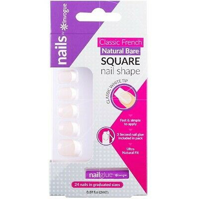 Invogue - Classic French Naturel 24 Faux ongles + 1 colle