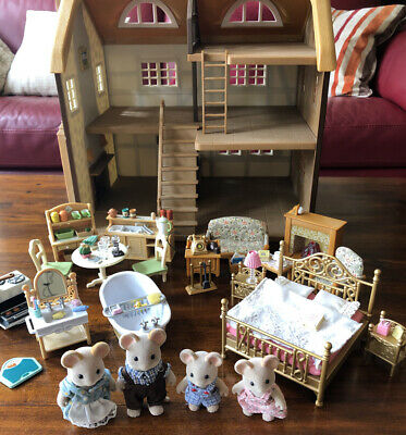 Sylvanian Families Highfields Farm With 4 Room Sets And Mouse Family Bundle