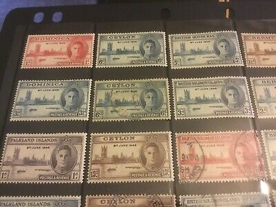Collection of 96 George VI Commonwealth stamps mostly mint