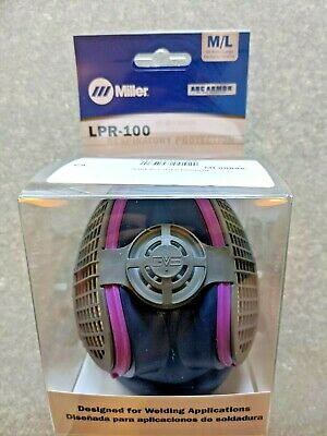 ***[Filters 99.97% Particles]***Miller Electric ML00895 M/L Half Mask Respirator
