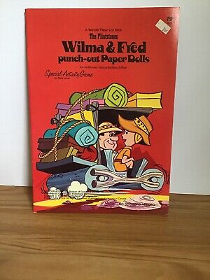 Vintage 1974 The Flintstones Wilma & Fred Paper Doll Book Unpunched