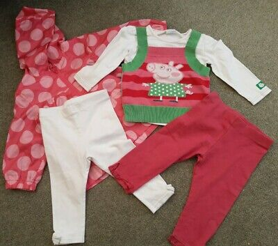 Girls Peppa Pig Top, Leggings And Rain Jacket Age 12-18 Months from Next