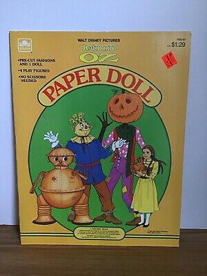Vintage 1985 Return To Oz Wizard Of Oz Paper Doll Book Unpunched