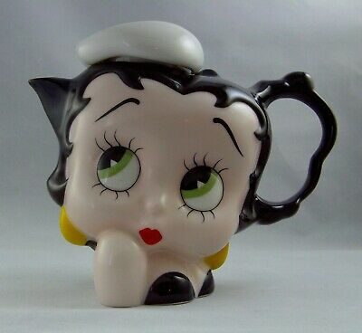 Collectible Betty Boop Tea pot by Paul Cardew Vintage 2000 Handcrafted CUTE