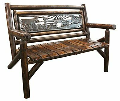 Leigh Country Double Bench with Farm Scene