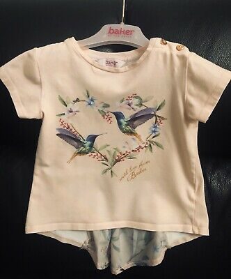 Pink Ted Baker Top Girls Age 4-5 Years