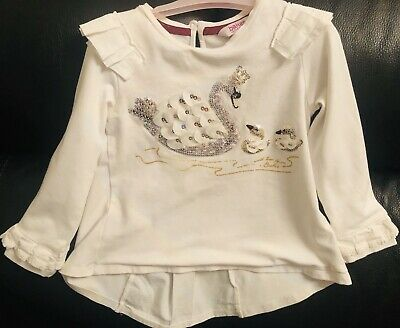 White Girls Ted Baker Top Age 3-4 Years