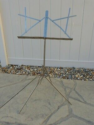 Antique or Vintage - THE HAMILTON Chrome Music Stand with Leather Case, Early