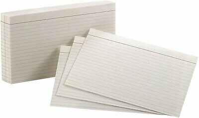 "Oxford Ruled Index Cards, 5"" x 8"", White, 100 Per Pack (40165)"