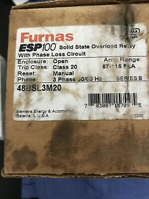 Nib Furnas 48Bsl3M20 Solid-State Overload Relay