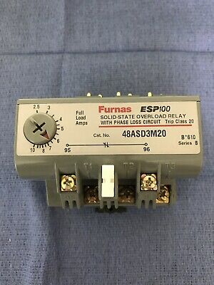 New Furnas 48Asd3M20 Solid State Overload Relay