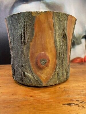 Vintage Classic 1950s Australian Gum Tree Stump Formed Concrete Planter Pot