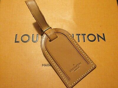 Authentic Louis Vuitton Large Vachetta Leather Luggage Tag  UNSTAMPED