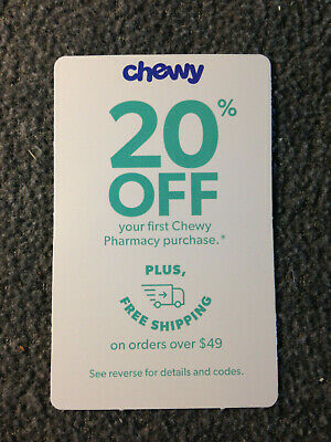 CHEWY.COM COUPON, 20% off 1st Chewy Pharamacy Purchase-Expire 5/30/20