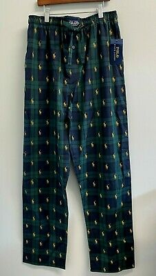 NEW Polo Ralph Lauren Blackwatch Gold All over Ponies Pajama Pants Lounge PJ