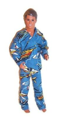 Doll Clothes-Helicopter Print  Flannel Pajamas