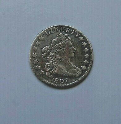 1807 Draped Bust Dime Vf/Xf Great Type Coin